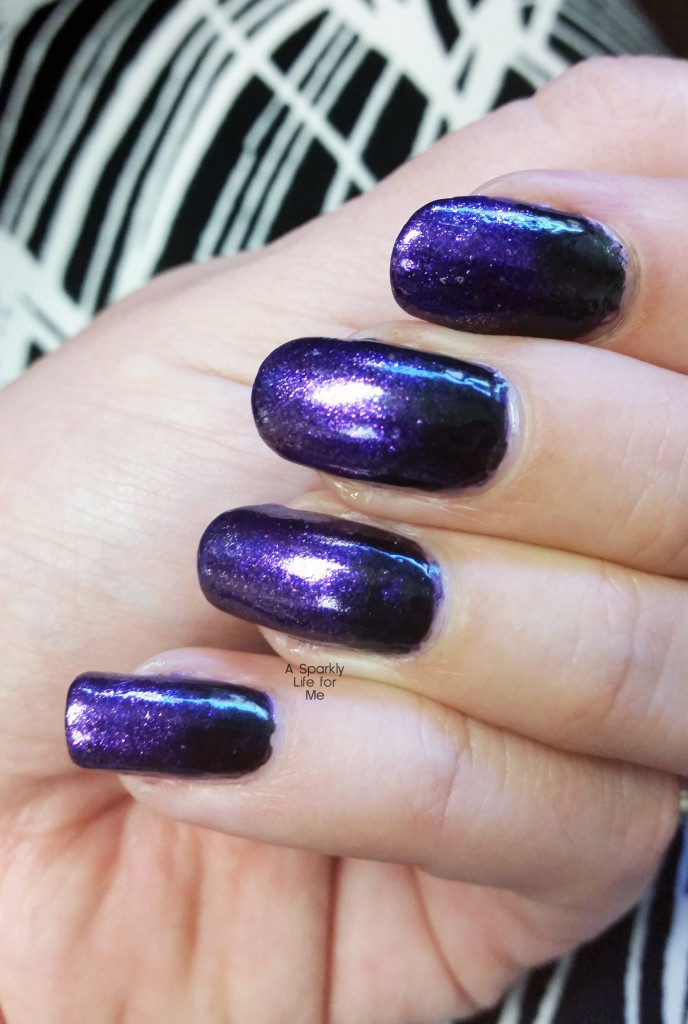 Purple and Black Gradient Nails – A Simple Halloween Nail Art Look ...