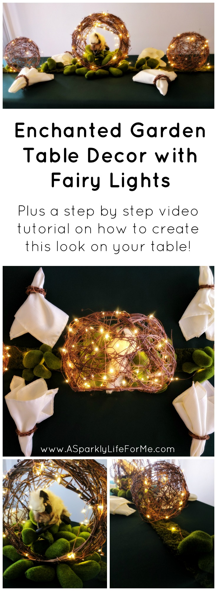 Diy Enchanted Garden Table Decor With Fairy Lights A