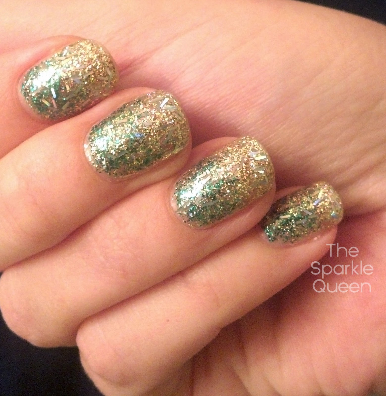 Christmas glitter gradient nail art a sparkly life for me prinsesfo Images